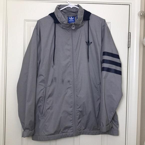 adidas giacche & cappotti mens impermeabile giacca usato a malapena poshmark